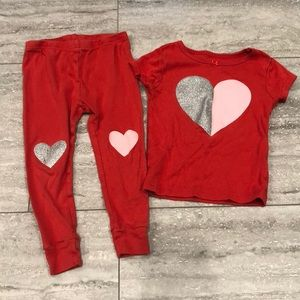 Carters heart pajamas